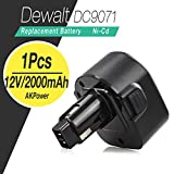 AKPower® Dewalt 12v 2.0Ah Battery Replacement For Dewalt DW930 DW965 DW970 DW972 DE9074 DE9075 DE9071 DE9501