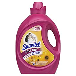 Suavitel 139367 Fast Dry Morning Sun Fabric Softener, 135 fl oz Bottle (Pack of 4)
