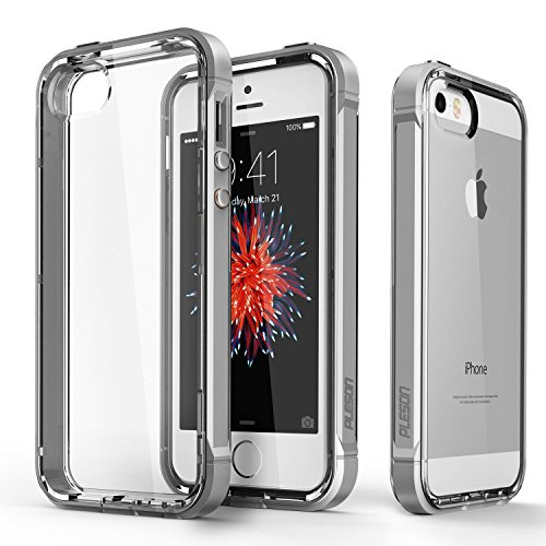 iPhone SE Case, PLESON [Crystal Bumper] iPhone SE Case Cover, Dual Layer Case [FREE Screen Protector] [Drop Protection] TPU/PC Bumper and Scratch Resistant Crystal Clear Case for iPhone SE/5/5s (Cell Phone Screen Covers compare prices)