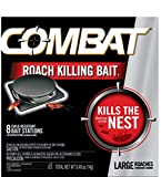 Combat Roach Killing Bait, Large Roach Bait Station, 8 Count