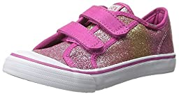 Keds Glittery Hook and Loop Sneaker (Toddler/Little Kid),Pink Glitter,6.5 M US Toddler