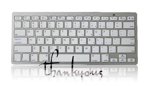 新しいiPad3/iPad2/iPhone用 ブルートゥースキーボード ホワイト Bluetooth Keyboard for New iPad 3/iPad 2/iPhone White