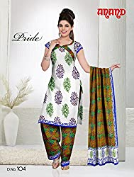 Anand Prints Women's Cotton Unstitched Dress Material (Dno104_MultiColored)