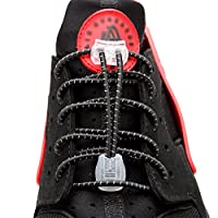 No Tie Shoelaces - Elastic Lock Shoe Laces for Boots Never Tie Lacing System Black by Wolf