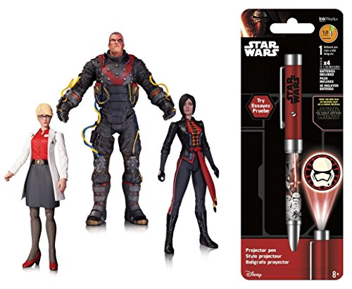 Super Hero Batman: Arkham Origins: The Electrocutioner Dr. Harleen Quinzel and Lady Shiva Action Figure (Pack of 3) & Free Star Wars Projector Pen, Colors may vary Toys