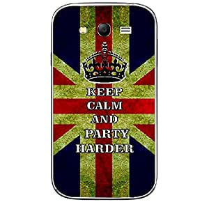 Skin4gadgets Keep Calm and PARTY HARDER - Colour - UK Flag Phone Skin for SAMSUNG GALAXY GRAND NEO ( GT-I9060I )