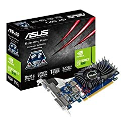 Asus GeForce GT 610 Nvidia Graphics Card (1GB DDR3, PCI Express 2.0, Low Profile, HDMI, DVI-I, VGA, DirectX 11.0, OpenGL 4.2, Dust-proof Fan, Super Alloy Power)