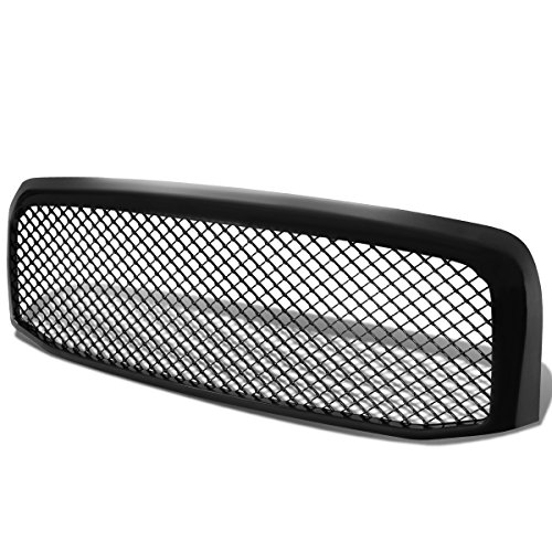 Dodge Ram ABS Plastic Meshed Style Front Upper Bumper Grille (Glossy Black) (Dodge Ram Power Wagon compare prices)