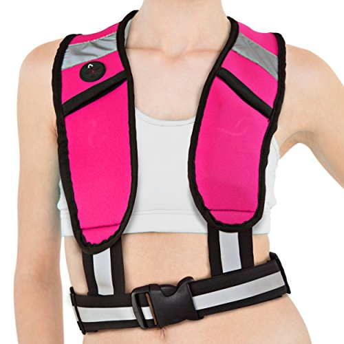 Reflective Safety Running Vest with LED Lights- Our Athletic Vest Is a Super Fashionable Reflective Sports Gear so You Can Be Seen At Night and Run with Confidence. (Running Safety Light Vest compare prices)