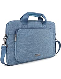 Evecase 15 - 16 Inch Stylish Handle Universal Suit Fabric Multi-functional Briefcase With Shoulder Strap For Laptop...