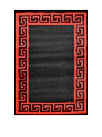 Chic Orange Alfombra Verso Negro / Rojo 120x170 cm