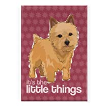 Norwich Terrier - The Little Things - Pop Doggie Refrigerator Magnets with Funny Sayings, Norwich Terrier Gifts