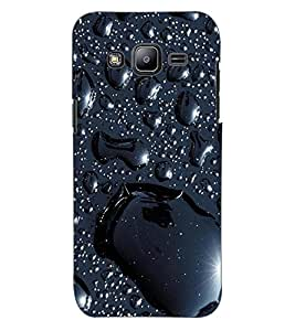 ColourCraft Lovely Water Drops Pattern Design Back Case Cover for SAMSUNG GALAXY J2 DUOS