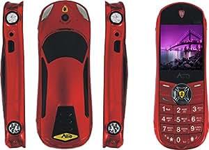 Surya Agtel Ferrai Car Mobile Phone In Red Colour