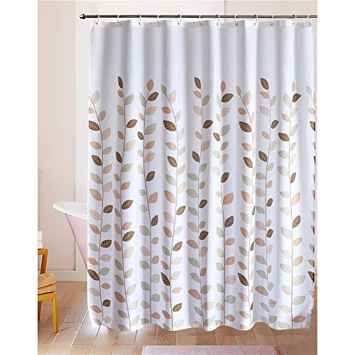 LanMeng Elegance Luxury Bathroom Shower Curtain Waterproof and Mildewproof Polyester Fabric (72-by-72 inches, 20) (Round Shower Curtains compare prices)