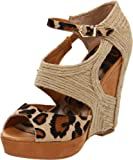Sam Edelman Women's Katie Wedge Sandal,Leopard,7.5 M US, Shoes Direct