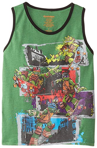 Teenage Mutant Ninja Turtles Little Boys' Turtles Group Cotton Tank