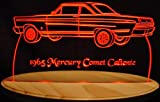 1965 Mercury Comet Caliente Acrylic Lighted Edge Lit LED Car Sign / Light Up Plaque 65
