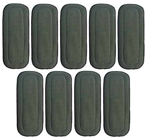 HappyEndingsTM Newborn 5 Layer Charcoal Bamboo Inserts (Pack of 9)
