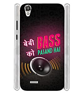 Baby Ko Bass Pasand Hai Soft Silicon Rubberized Back Case Cover for Xolo A550S IPS