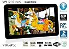 2015 ValuePad Quad Core Kids and Adult Hybrid Tablet VP112 10 1GB 16GB Bluetooth 4.0 HDMI Android 4.4 KitKat Google Play 10 Points 1024x600 HD MultiTouch 3D Game Dual Camera Dual Speaker