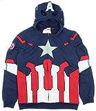 Marvel Universe Captain America Costume Zip Hoodie