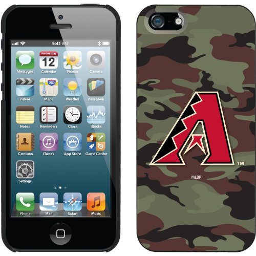 Great Sale Arizona Diamondbacks - Traditional Camo design on a Black iPhone 5 Thinshield Snap-On Case by Coveroo