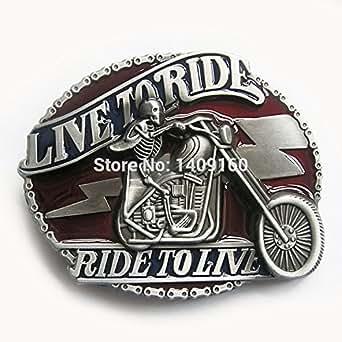 Amazon.com: Men Belt Buckle (Emo Skull Motorcycle Biker