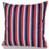 Dekorativer-KissenbezugKissenhlle-60cm-x-60cm-EXCEL-Hochwertiger-Dekokissen-Bezug-fr-Couch-Bett-oder-Sofa-mit-Streifen-Muster-Rot-Wei-von-Sunburst-Outdoor-Living-Nur-Bezug-Ohne-Kissen