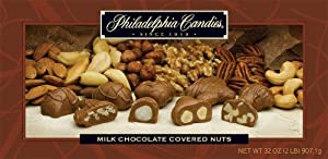 Philadelphia Candies Milk Chocolate Covered Nuts, 2 lb. Gift Box