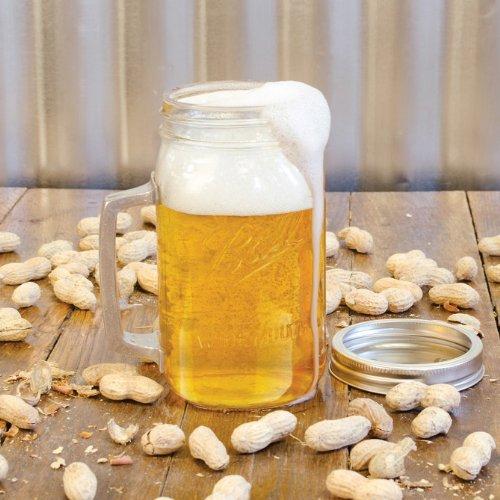 Mason Jar Beer Mug, 32 Ounce