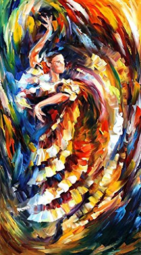 Xm Art-Dream Tango Dance Palette Knife Landscape Oil Painting On Canvas Wall Art Deco Home Decoration(Unstretch And No Frame)