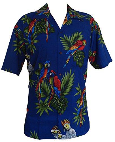 hawaii-hemd-papagei-drucken-blau-polyester-beach-camp-partei-aloha-4xl