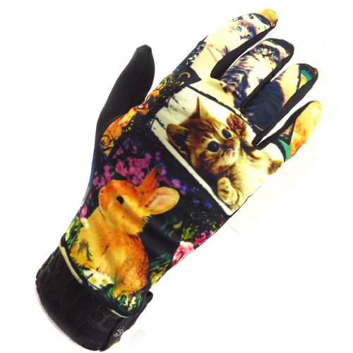 'French Touch' Gloves 'Doudous' Black Multicoloured. front-665972