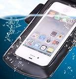 Axstyle 高品質 水深10M スタイリッシュ 防水ケース Waterproof case for iPhone5S/5,GALAXY S III,ARROWS,AQUOS Phone,Xperia 【Axstyle Cleaning Cloth 付属】 アームバンド&ストラップ付属 防水保護等級IPx8 オリジナルモデル