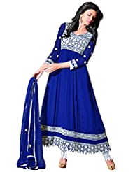 Florence Embroidered Anarkali Dress Material