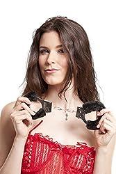 Under Cover Lingerie Handcuffs-Black Honeymoon Lingerie Accessories Nightwear For Women