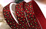 3m Arts Crafts Sewing Scrapbooking Grosgrain Ribbon Animal Leopard Print - RED LEOPARD 9mm 3/8