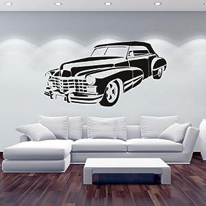Cadillac Pegatina de Pared. Arte de Pared Coche disponible en 5 tamaños y 25 colores marca IconWallStickers