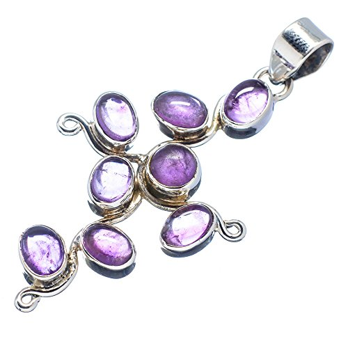 Ana Silver Co Amethyst 925 Sterling Silver Pendant 2 1/4