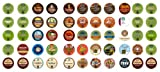 Crazy Cups Caffinated Coffee Only Gift Sampler, Single-cup coffee pack sampler for Keurig K-Cup Brewers, 55 Count