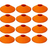 World Sport Set Of 12 Orange Disc Cones
