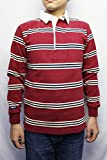BARBARIAN (バーバリアン)/ RUGBY JERSEY L/S GNBSS/BHC (MAROON/BEIGE/NAVY) (S)
