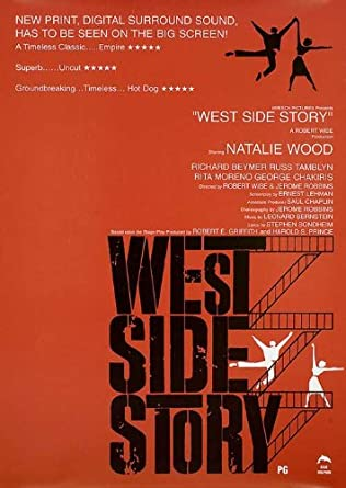 West Side Story 1990 Original UK Double Crown Movie Poster Jerome Robbins Natalie Wood