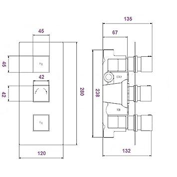 hudson reed mitigeur de douche thermostatique high tech o237. Black Bedroom Furniture Sets. Home Design Ideas