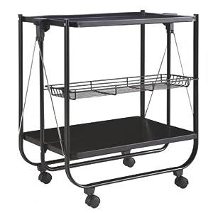 k chenwagen tea klappbar teewagen metall k chenschrank rollwagen faltbar ablage. Black Bedroom Furniture Sets. Home Design Ideas