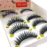 NEW 5 Pairs Handmade Cross Thick Party False Eyelashes For eye makeup