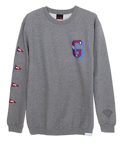 Diamond Supply Co. Men's Campus G Fleece Crewneck Sweatshirt-Heather-2XL (Diamond Supply Co Crew Fleece compare prices)