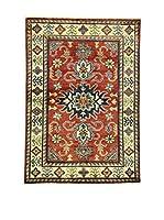 Eden Carpets Alfombra Uzebekistan Rojo/Crema/Azul 152 x 107 cm