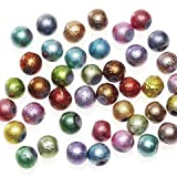 Bulk Buy: Darice DIY Crafts Spectra Glass Beads Multi Metallic Round 6mm (6-Pack) 1980-73